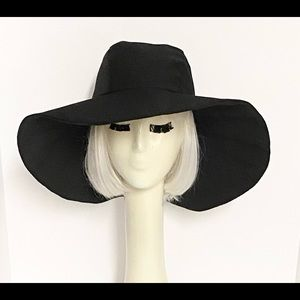 Black  Wide Brim Sun Hat